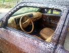 """Dùng sợi cọ đan """"áo"""" cho xe hơi"""