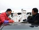 Bán người tuyết cho du khách - hình thức kiếm tiền không mất vốn