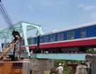Thay mới 6 nhịp giàn thép cầu đường sắt Trà Bồng - Quảng Ngãi
