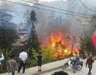 Cháy lớn xưởng gỗ trong nhà nghỉ Lâm nghiệp Sa Pa