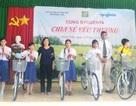 Trao 30 xe đạp đến học sinh nghèo hiếu học