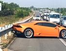 Siêu xe Lamborghini bẹp đầu trên cao tốc Long Thành - Dầu Giây