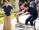Angela Phương Trinh nhảy bao bố, kéo co với học sinh miền núi