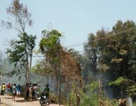 Phát hoảng vì đám cháy cạnh trụ sở huyện đội