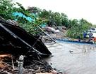 """Sạt lở bờ sông, 5 căn nhà bị """"nuốt chửng"""" trong đêm"""