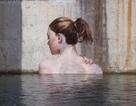 """Độc đáo hình ảnh """"Những cô gái đang tắm trên sông"""" sống động như thật"""