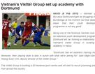 Làng cầu khu vực quan tâm việc Viettel liên kết với Dortmund mở học viện