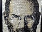 Chân dung Steve Jobs làm từ 6.000 nút bàn phím
