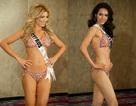Hoàng My tự tin diện bikini tiếp xúc ban giám khảo