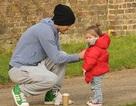 David Beckham vui chơi cùng các con
