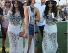 Selena Gomez thoải mái mặc váy xuyên thấu đi chơi