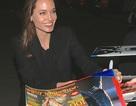 Angelina Jolie vui vẻ ký tặng fans