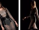 Siêu mẫu mặc váy xuyên thấu ấn tượng trên sàn catwalk