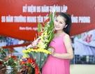 Diễn viên Diệu Hương bế bụng bầu dự sự kiện