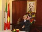 Tổng Bí thư thăm, nói chuyện với kiều bào tại Italy