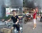 Dân mạng phẫn nộ hai thanh niên chụp ảnh cười đùa trước đám cháy