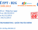 Cử nhân quốc tế FPT - B2G xét tuyển đợt cuối