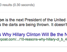 """Google """"chỉ điểm"""" Hillary Clinton là Tổng thống tiếp theo của Mỹ"""