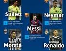 [Infographics] Barca áp đảo tuyệt đối ở đội hình tiêu biểu Champions League