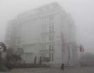 Thành phố Vinh chìm trong sương mù dày đặc