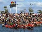 Náo nức đi xem đua thuyền đầu năm trên Cao nguyên