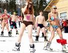 Diện bikini trượt tuyết để phá kỷ lục thế giới