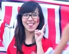 Những nữ CĐV đáng yêu của CLB Arsenal tại Mỹ Đình