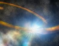 Lỗ đen khổng lồ xé toạc và nuốt chửng một ngôi sao