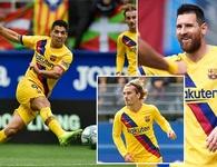 """Messi, Suarez, Griezmann cùng lập công, Barcelona đại thắng """"3 sao"""""""