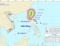 Bão LINFA đang giật cấp 11 trên vùng biển Philippines