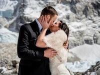 Cặp đôi dành 3 tuần leo lên đỉnh Everest để kết hôn