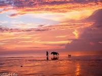 Đón ánh mặt trời rực rỡ trên biển Hải Tiến