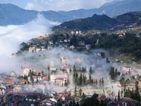 Nét riêng Sa Pa trong sương đẹp như tranh thủy mặc