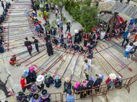 Mục sở thị màn nhảy sạp đạt kỷ lục Việt Nam tại Fansipan