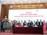5 chương trình đào tạo của trường ĐH Thương Mại đã hoàn thành đánh giá ngoài