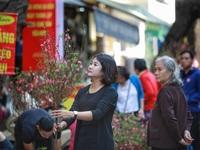 Dòng người chen chân mua sắm Tết ở chợ hoa lâu đời nhất Hà Nội