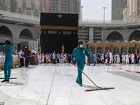 Cảnh tượng vắng vẻ hiếm thấy tại thánh đường hồi giáo Mecca