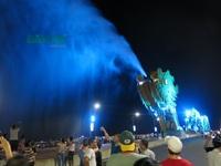 Cầu Rồng ở Đà Nẵng tạm dừng phun lửa, phun nước
