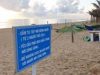 Phú Yên siết chặt quản lý nơi công cộng, bãi biển không một bóng người