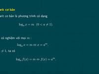 Ôn thi tốt nghiệp THPT môn Toán: Phương trình mũ và phương trình lôgarit
