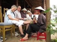 """Độc đáo dịch vụ """"massage làng"""" tại Quảng Nam"""