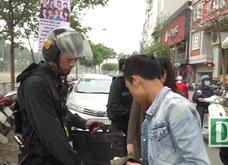 CSCĐ Hà Nội tuần tra ban ngày chống vi phạm giao thông, hình sự