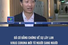 Đã có bằng chứng về sự lây lan virus corona mới từ người sang người