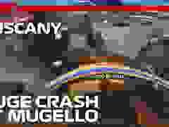 Pha va chạm giữa 4 chiếc xe trên đường đua Mugello tại chặng Tuscan Grand Prix 2020