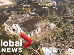 """Bão nối bão đổ bộ, bang của Mỹ tan hoang như """"bãi chiến trường"""""""