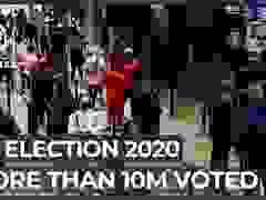 Người Mỹ xếp hàng suốt nhiều giờ để bầu tổng thống