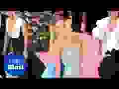 Candice Swanepoel kiêu sa với váy xanh