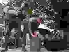 Đơn vị công binh sửa soạn trang bị, sẵn sàng vào điểm sạt lở Trà Leng