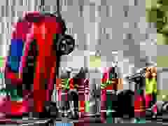 """Volvo """"chịu chơi"""" thả xe từ độ cao 30m xuống để thử nghiệm"""