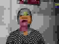 Bà Hồ Thị Điều - vợ liệt sĩ Hồ Văn Sức phát biểu